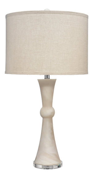 Commonwealth Table Lamp, Jamie Young, White Faux Alabaster, Dashing Trappings