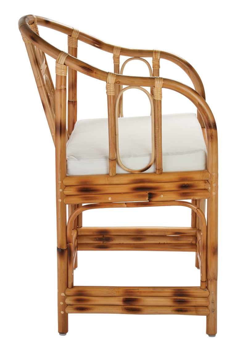 Malacca Round Back Arm Chair, rattan, Jamie Young, Dashing Trappings
