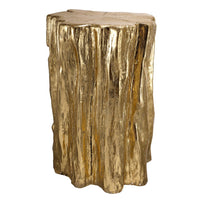 Glam Wood Textured Stool - Dashing Trappings