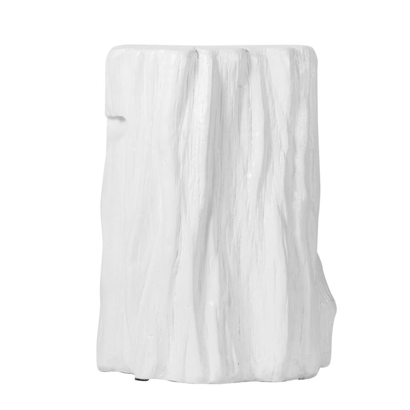Modern Chic White Tree Trunk Stool - Dashing Trappings
