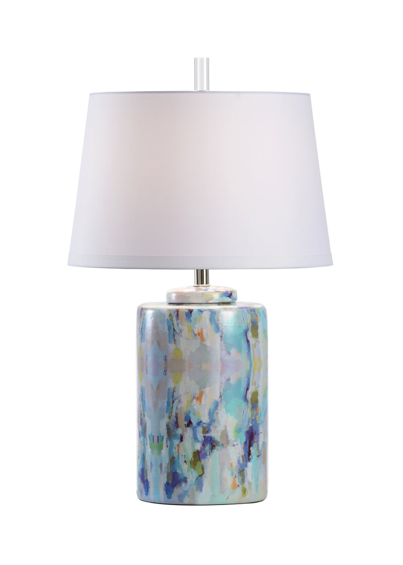 Small Wintergreen Cylinder Lamp, Wildwood, Laura Park
