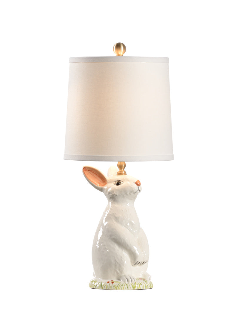 Next Generation Lamp, Bunny, Cream, Blue, Green, Rabbit, Wildwood, Dashing Trappings
