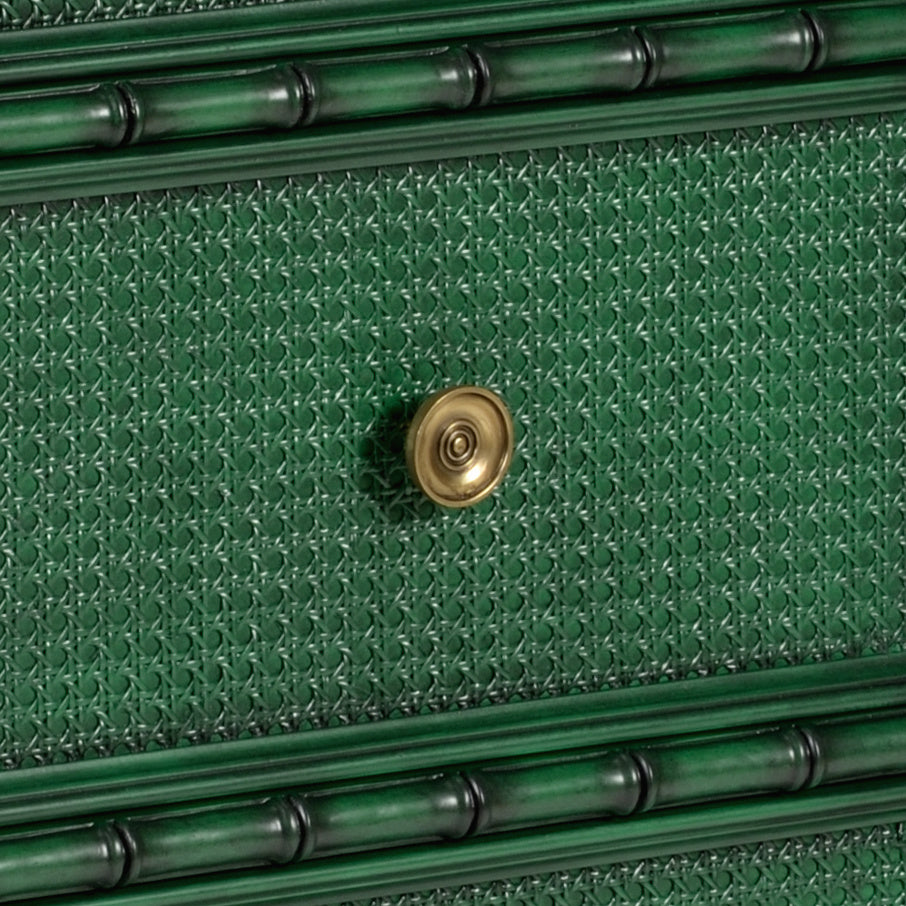 Green Borneo Chest, Wildwood, Dashing Trappings, Faux Bamboo
