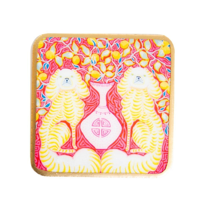 Paige Gemmel Staffies & Lemons Enameled Coasters (4pk)
