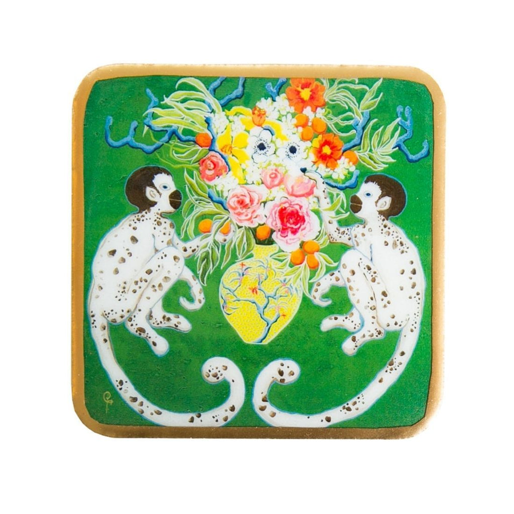 Paige Gemmel Monkeying Around Enameled Coasters (4pk)