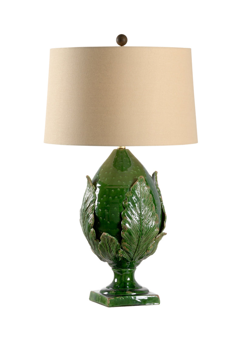 Large Forest Artichoke Lamp - Dashing Trappings