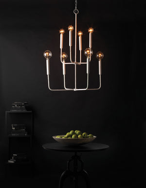 Mercer Two Tier Chandelier, Jamie Young, Modern, White, Plaster, Dashing Trappings