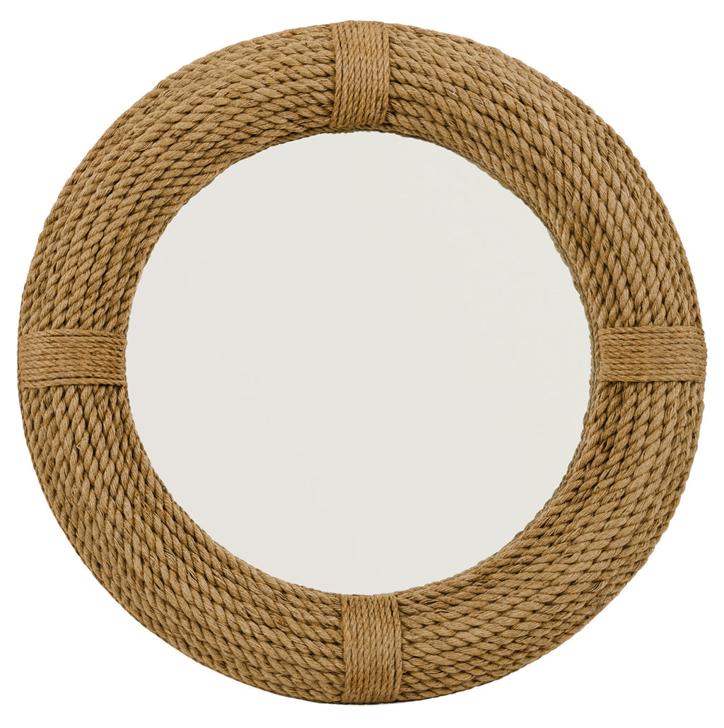 LS Round Rope Mirror, Jamie Young, Nautical, Dashing Trappings