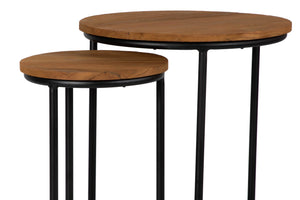 Sunset Teak Nesting Tables, David Francis, Indoor Outdoor, Dashing Trappings