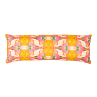 The Flower Child Marigold Linen Cotton Pillow, Laura Park Designs