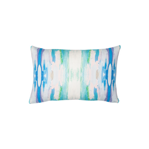 The Flower Child Teal Linen Cotton Pillow , Laura Park Designs