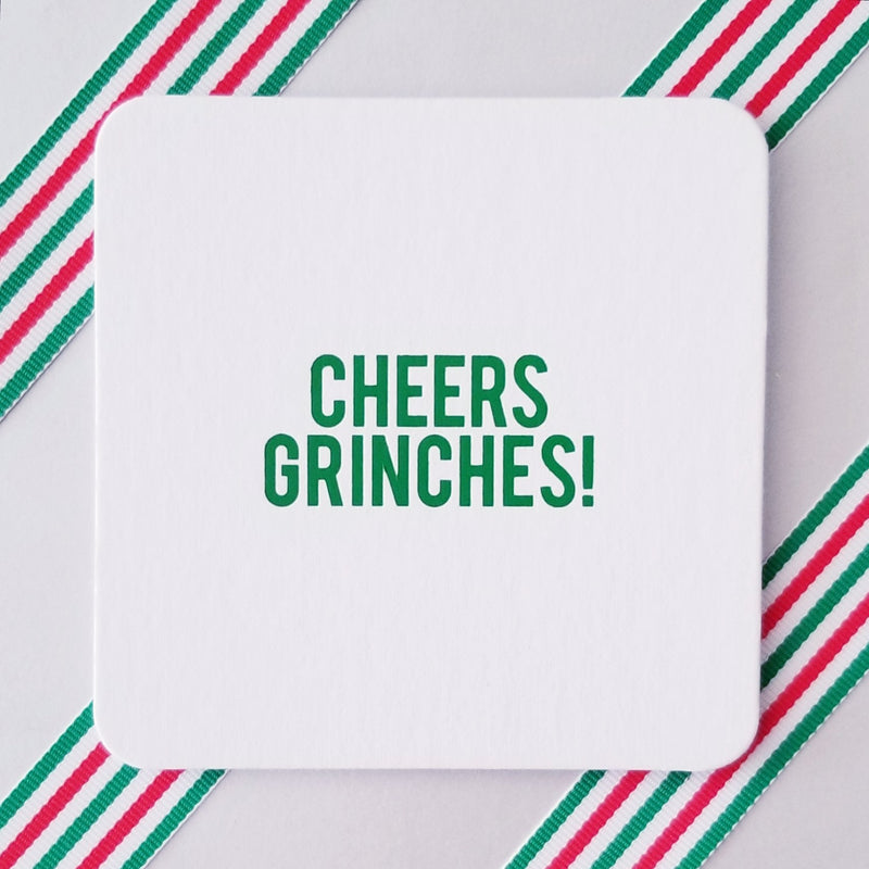 Cheers Grinches Coasters - Dashing Trappings