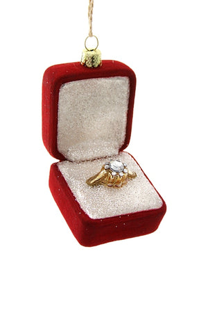 Red Engagement Ring Ornament