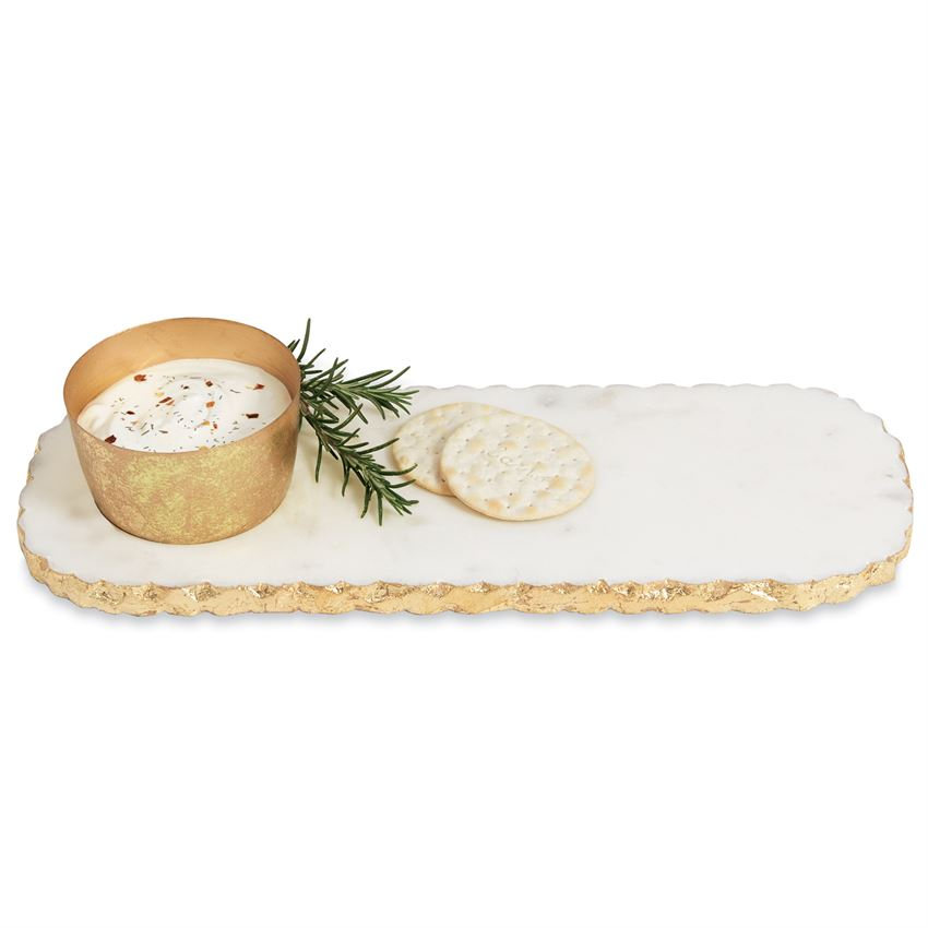 Golden Chipped Marble Dip Tray, CHIPPED MARBLE DIP AND TRAY, Mudpie