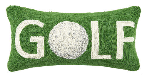 Golf with Ball Hook Pillow - Dashing Trappings
