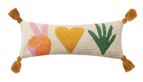 Peace, Love & Plants, Peking Handicraft, Hook Pillow
