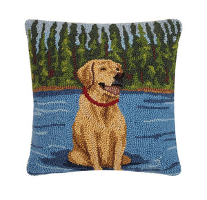 Lab Sits on the Lake Hook Pillow - Dashing Trappings