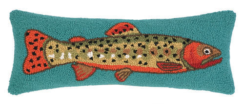 Trout to the Right Hook Pillow - Dashing Trappings
