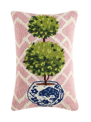 Pink Ball Topiary Hook Pillow