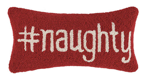 Hashtag Naughty Hook Pillow - Dashing Trappings