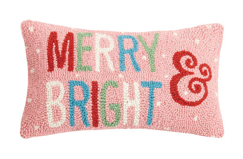 Merry & Bright, Peking, Holiday Pillow, Hook Pillow