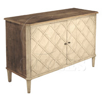 Rustic Pine Lattice Front Server - Dashing Trappings