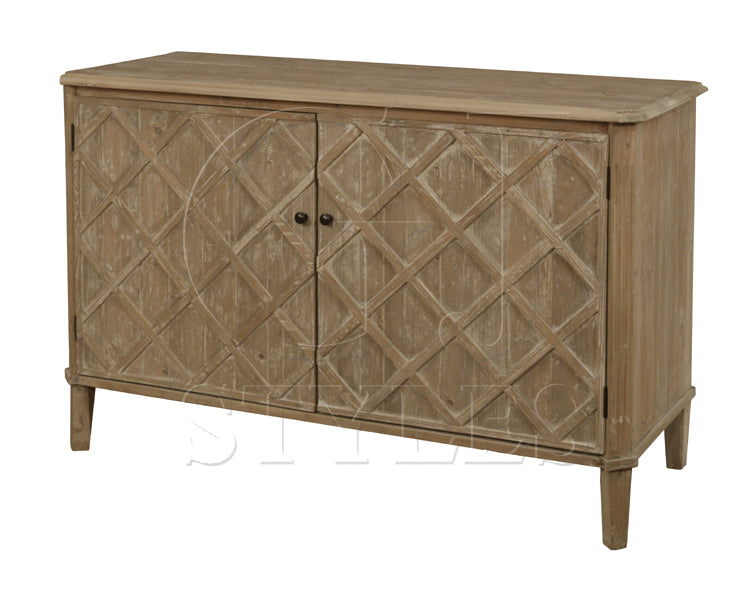 Lattice Front Server in Washed Finish - Dashing Trappings