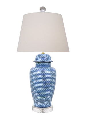 Katherine Blue and White Temple Jar Lamp