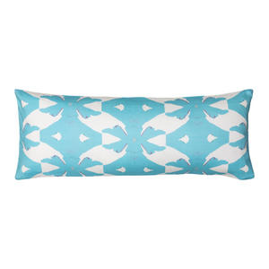 Palm Blue Linen Cotton Pillow, Laura Park Designs