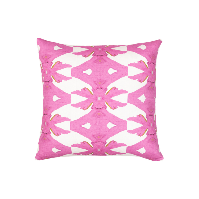 Palm Pink Linen Cotton Pillow, Laura Park Designs