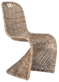 "Cilombo 19"" H Wicker  Dining Chair, Safavieh, Olivia, Dashing Trappings"