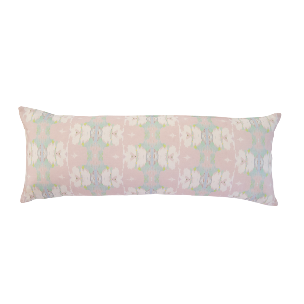 Butterfly Garden Blush Linen Cotton Pillow - Dashing Trappings