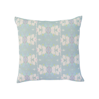 Butterfly Garden Sky Linen Cotton Pillow - Dashing Trappings