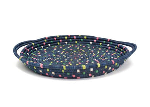 Speckled Blue Night Celebration Tray, Kazi Goods, Dashing Trappings