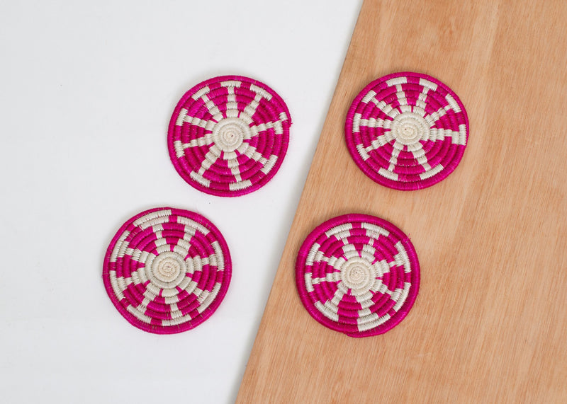 Vivid Viola Florian Coasters, Kazi Goods, Dashing Trappings
