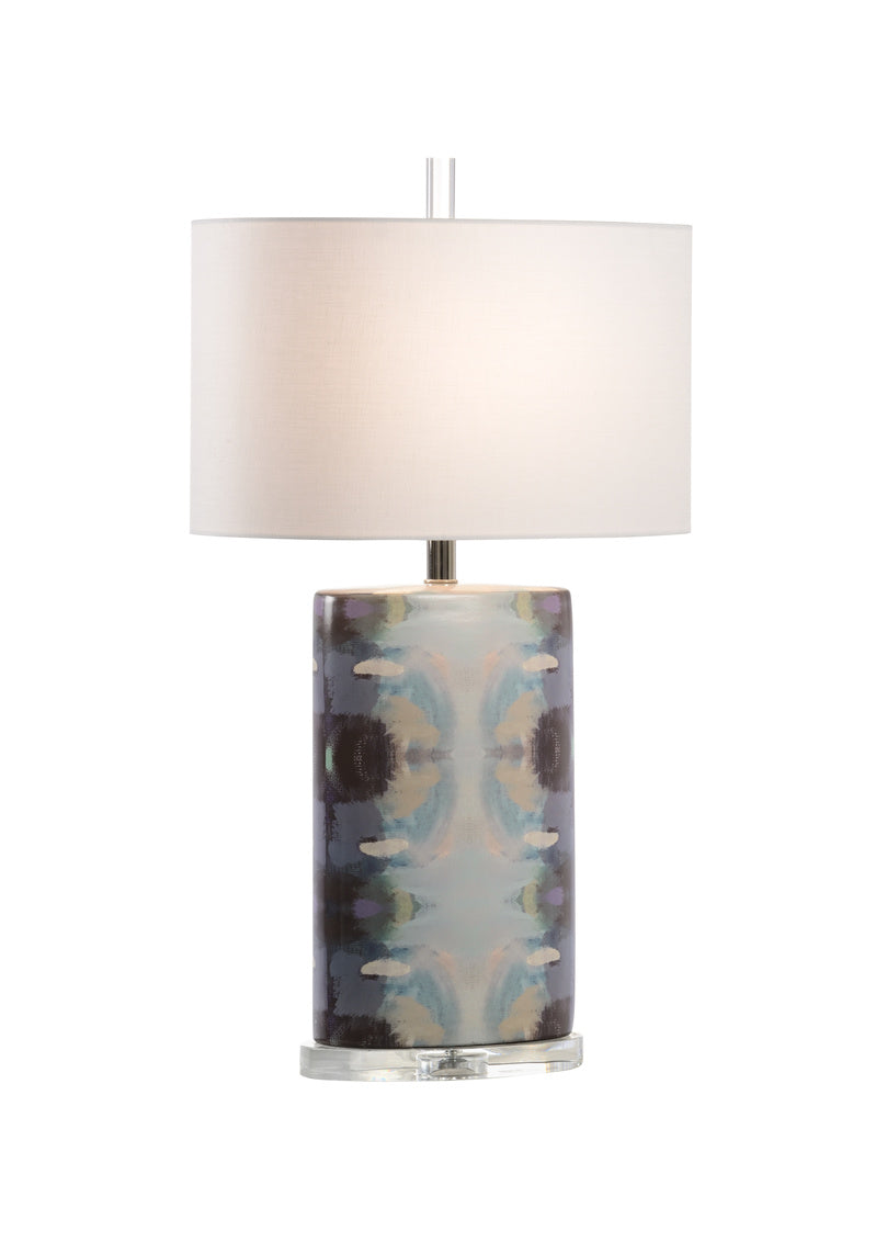 Orchid Blossom Lamp - Navy, Wildwood, Laura Park Designs, Dashing Trappings