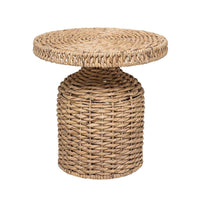 Woven Natural Water Hyacinth Table - Dashing Trappings