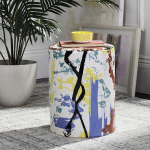 Kes Multicolor Garden Stool - Dashing Trappings