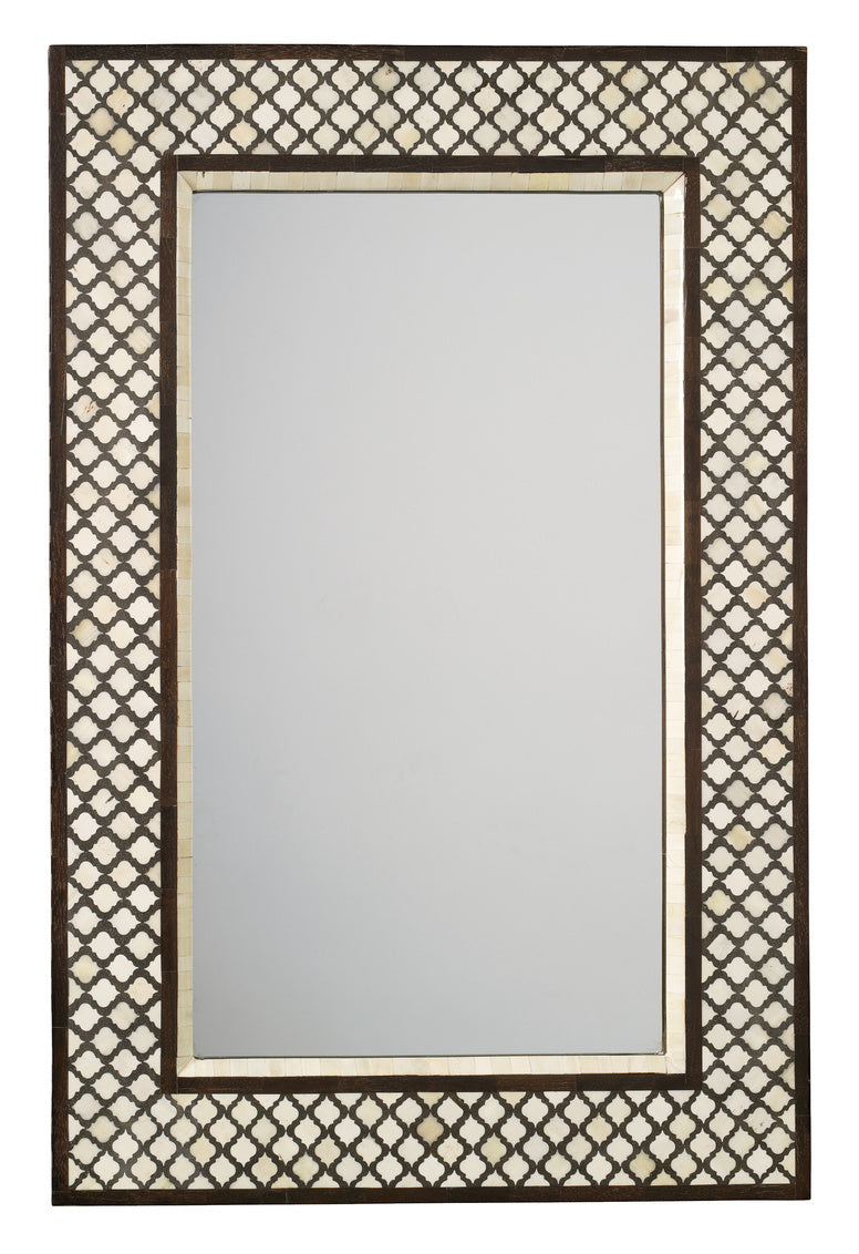 Mughal Bone Rectangle Mirror, Brown, Jamie Young, Dashing Trappings
