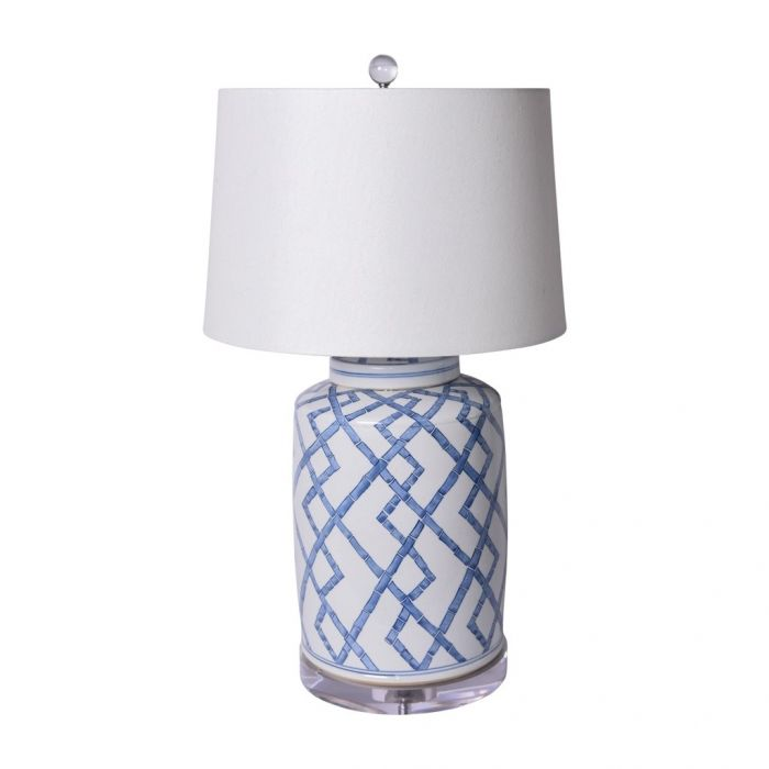 Table Lamp with Bamboo Tea Jar - Dashing Trappings