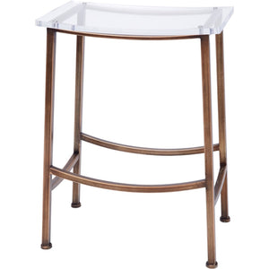 Carson Bronze and Acrylic Counter Height Barstool - Dashing Trappings