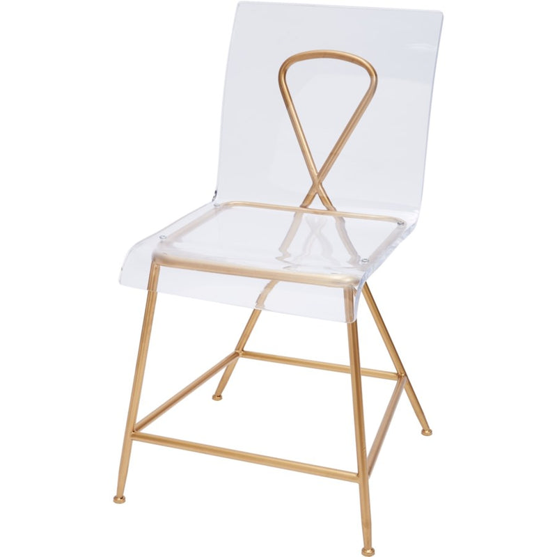 Gold and Acrylic Ainsley Chair - Dashing Trappings