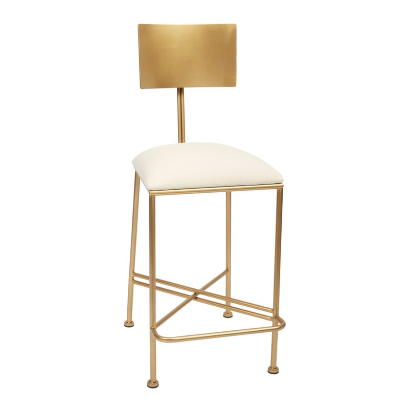 McAdams Gold Counter Height Barstool - Dashing Trappings