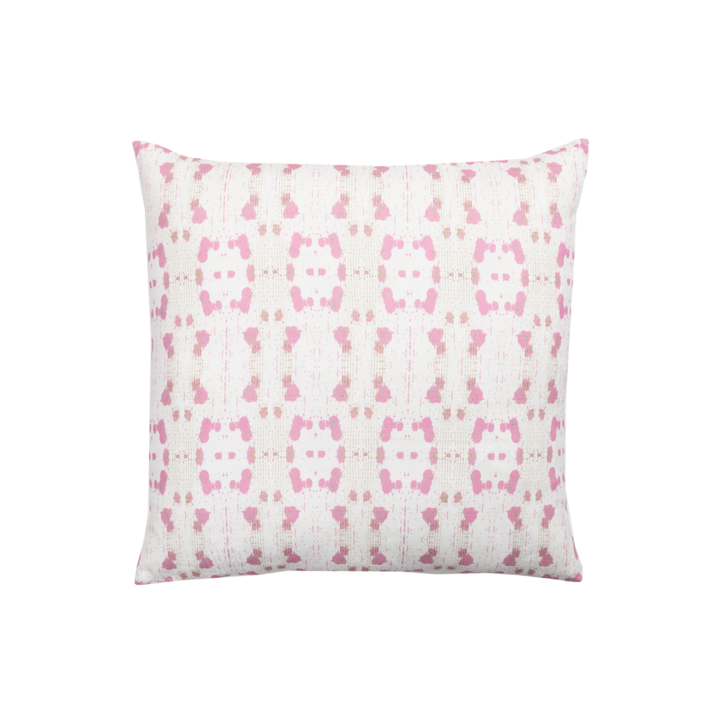 Cheetah Pink Linen Cotton Pillow, Laura Park Designs