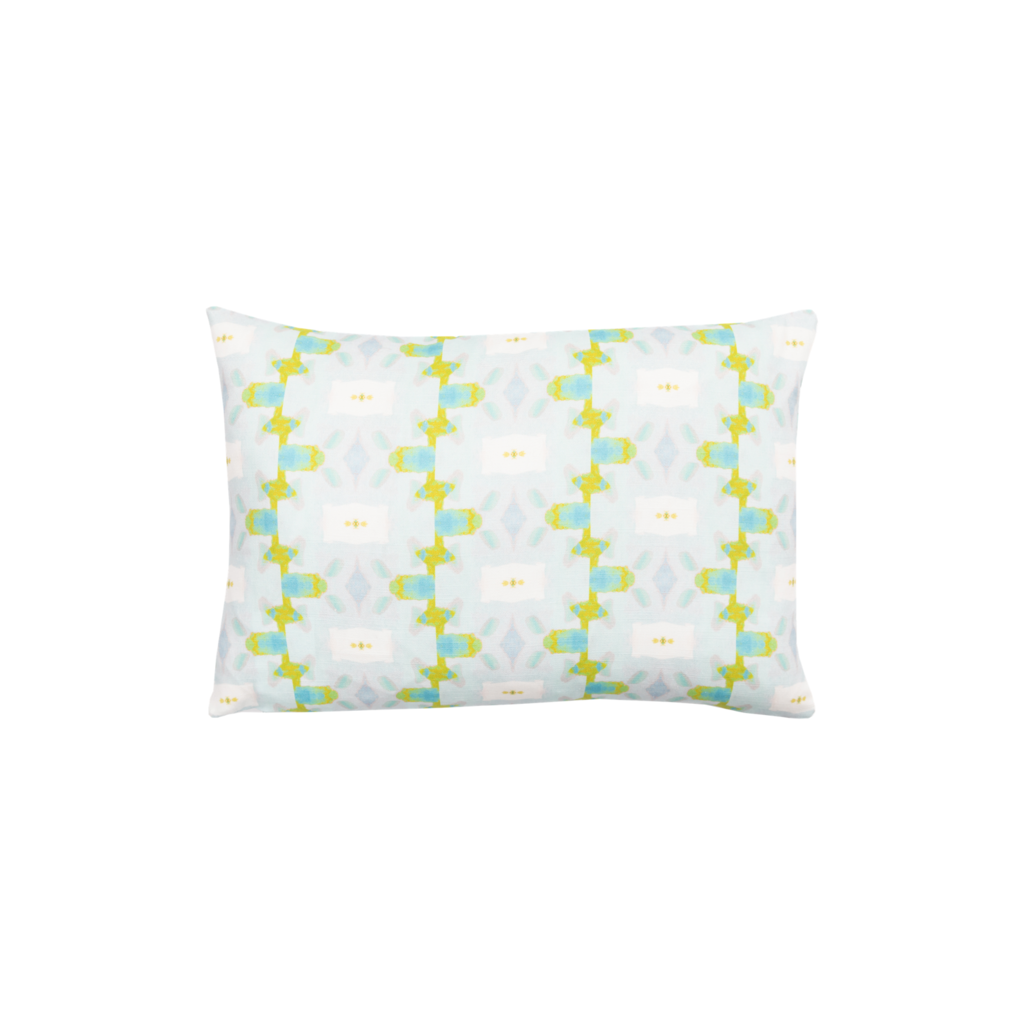 Chloe Blue Linen Cotton Pillow, Laura Park Designs