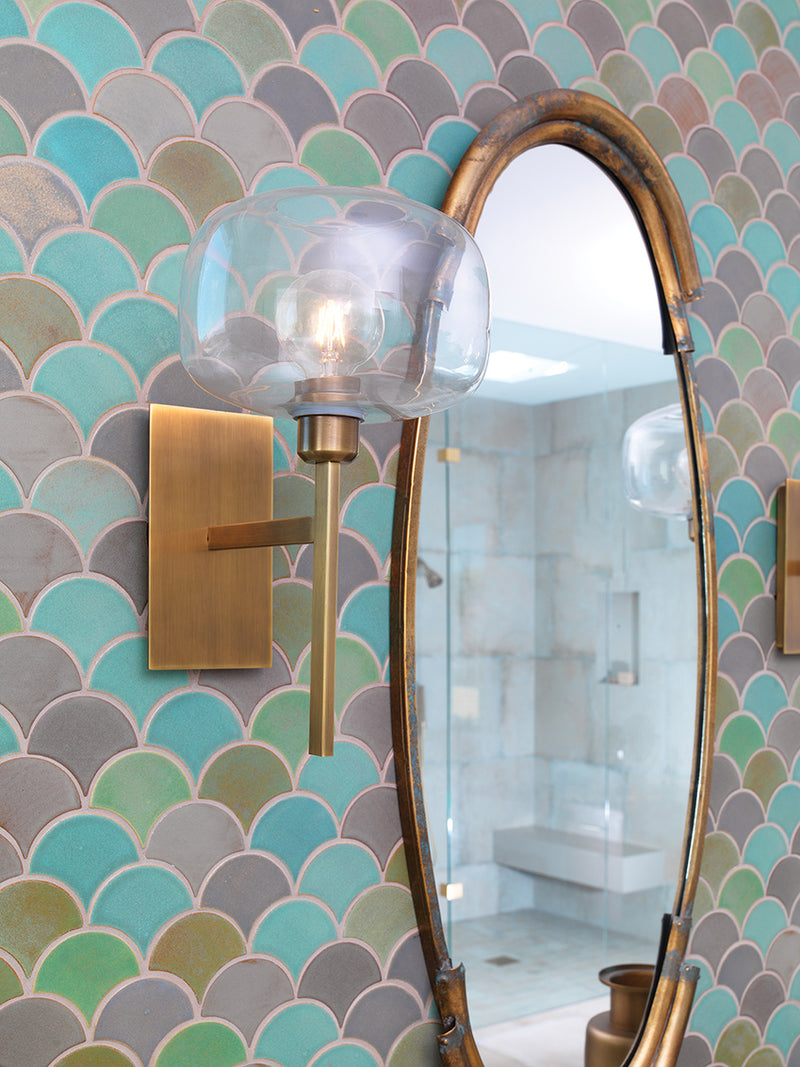 Scando Mod Wall Sconce, Jamie Young, Brass, Dashing Trappings