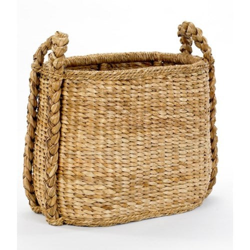 Oval Fireside Rush Basket, Mainly Baskets, Dashing Trappings