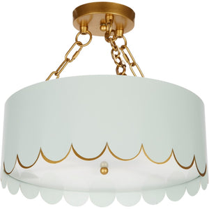 Eloise Scalloped Ceiling Fixture