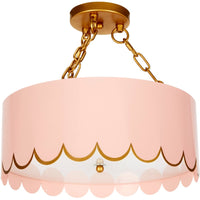 Eloise Scalloped Ceiling Fixture - Dashing Trappings