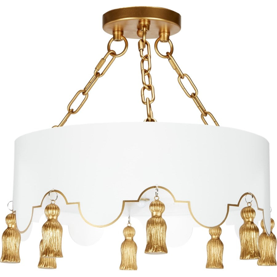 Alice Ceiling Fixture with Gold Tassels - Dashing Trappings